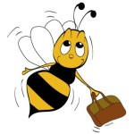 Bee with briefcase